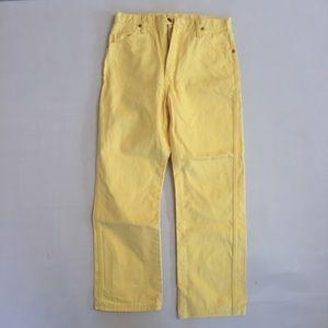 VINTAGE 80s wrangler mellow yellow!